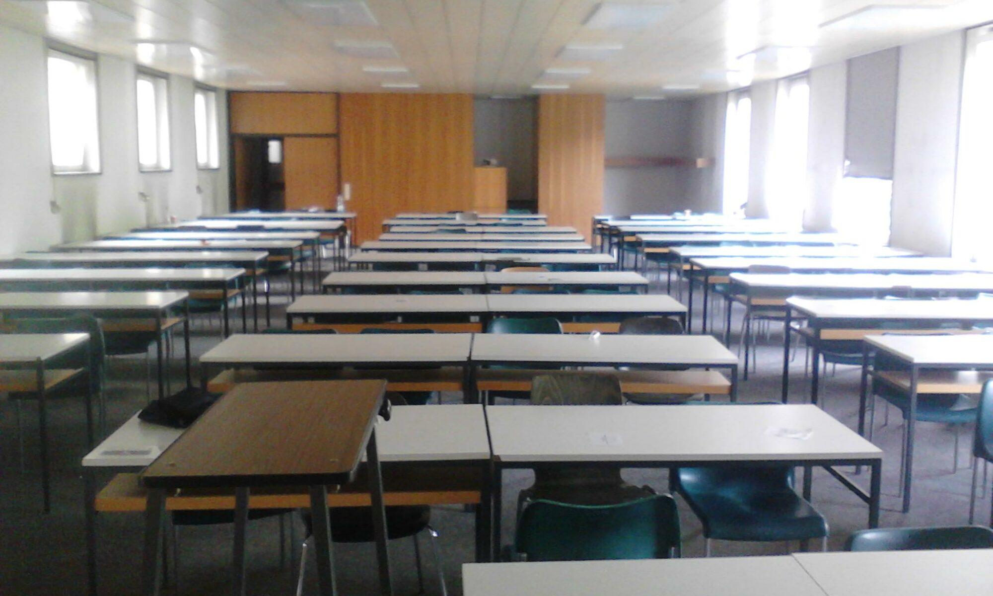 Seminarraum zur Vorlesung an der Universität Hohenheim am 2. Mai 2011